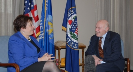 Herb Kohl with Elena Kagan
