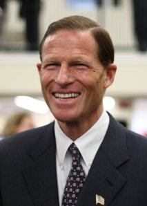 Richard Blumenthal at West Hartford Library opening